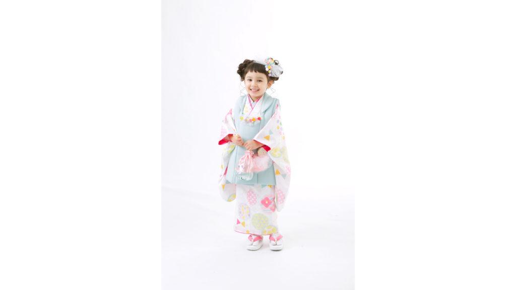 フォトスタジオタートルの七五三着物 被布(3歳女の子用)